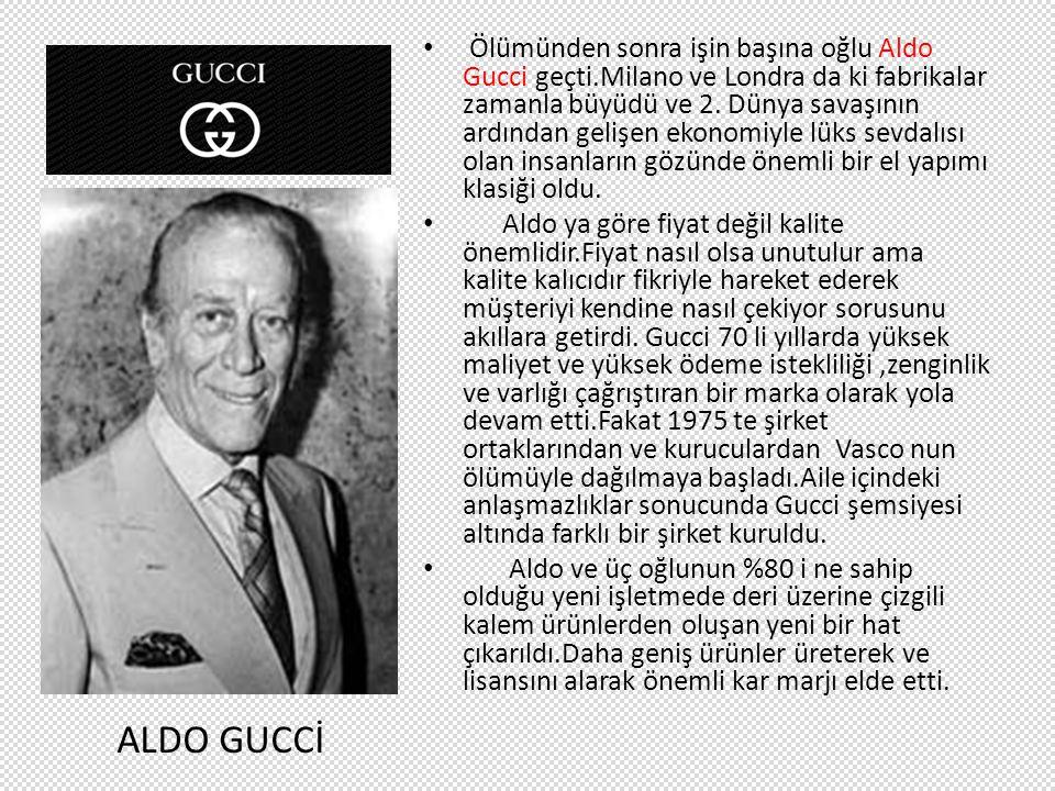Ölümünden sonra işin başına oğlu Aldo Gucci geçti