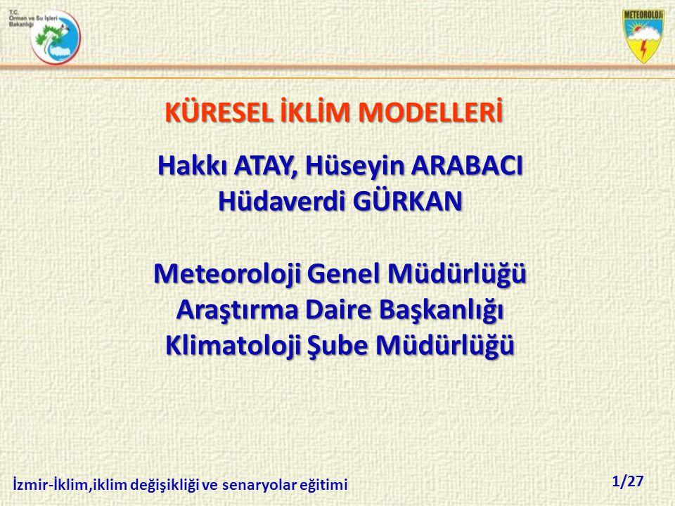 KÜRESEL İKLİM MODELLERİ
