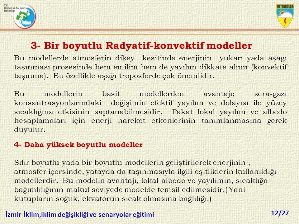 3- Bir boyutlu Radyatif-konvektif modeller