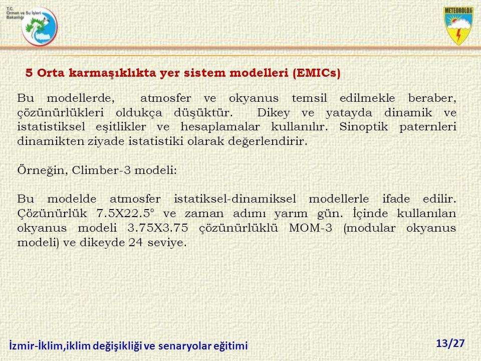 5 Orta karmaşıklıkta yer sistem modelleri (EMICs)