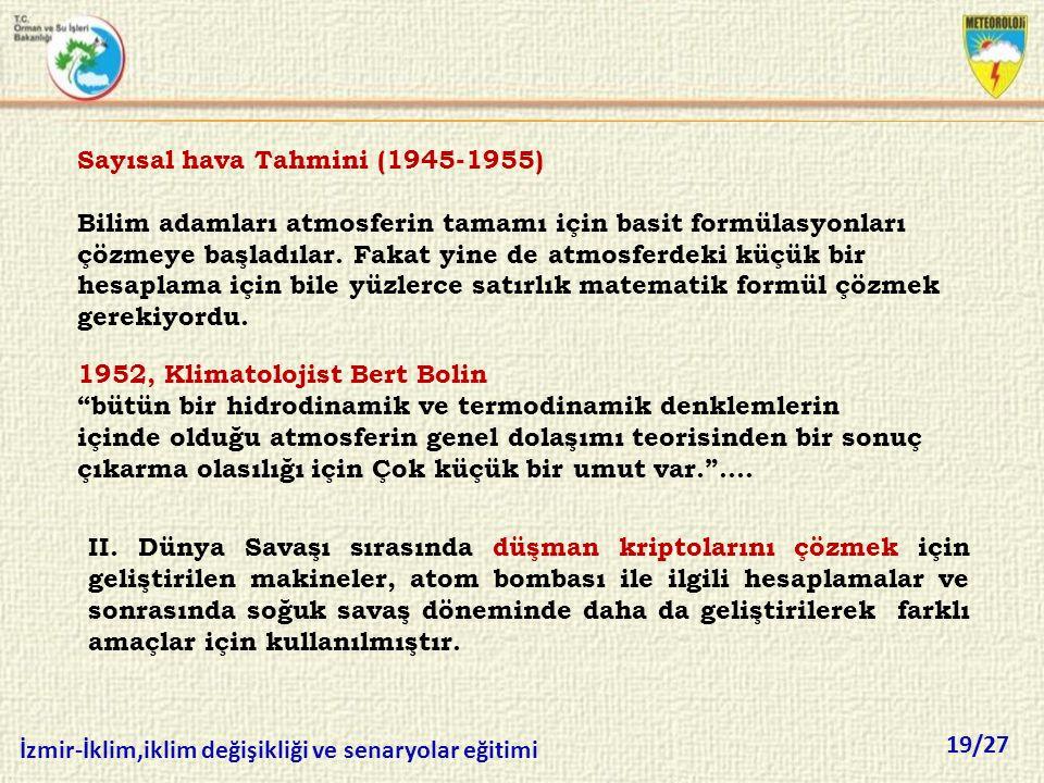 Sayısal hava Tahmini (1945-1955)