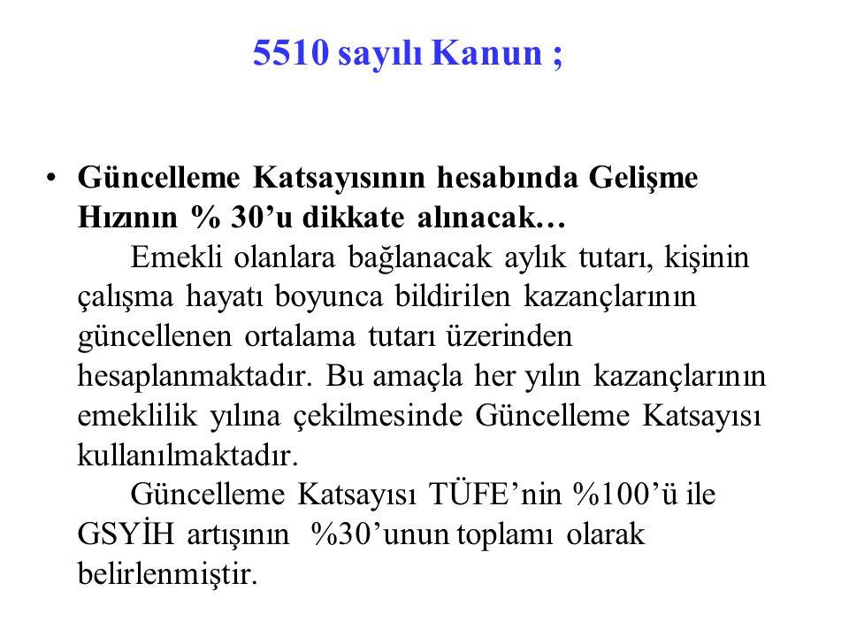 5510 sayılı Kanun ;