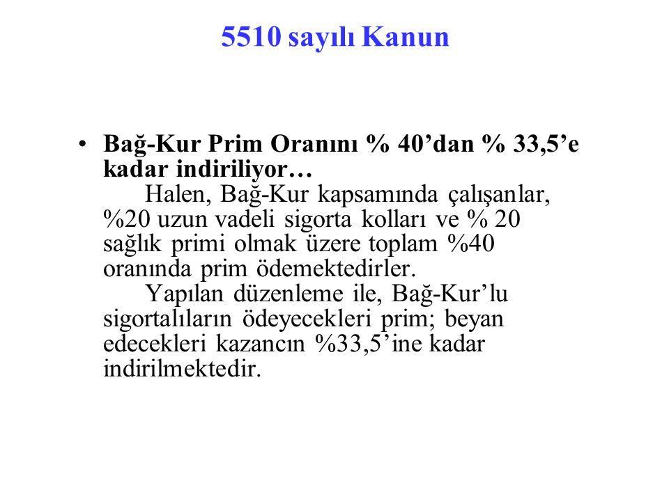 5510 sayılı Kanun