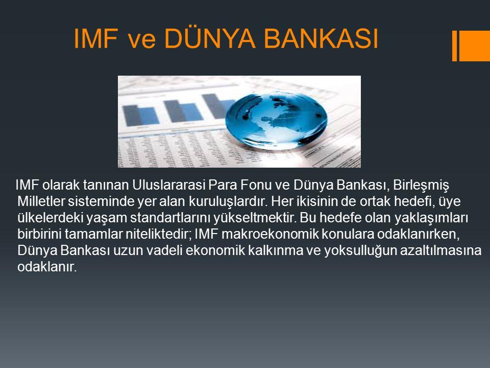 IMF ve DÜNYA BANKASI