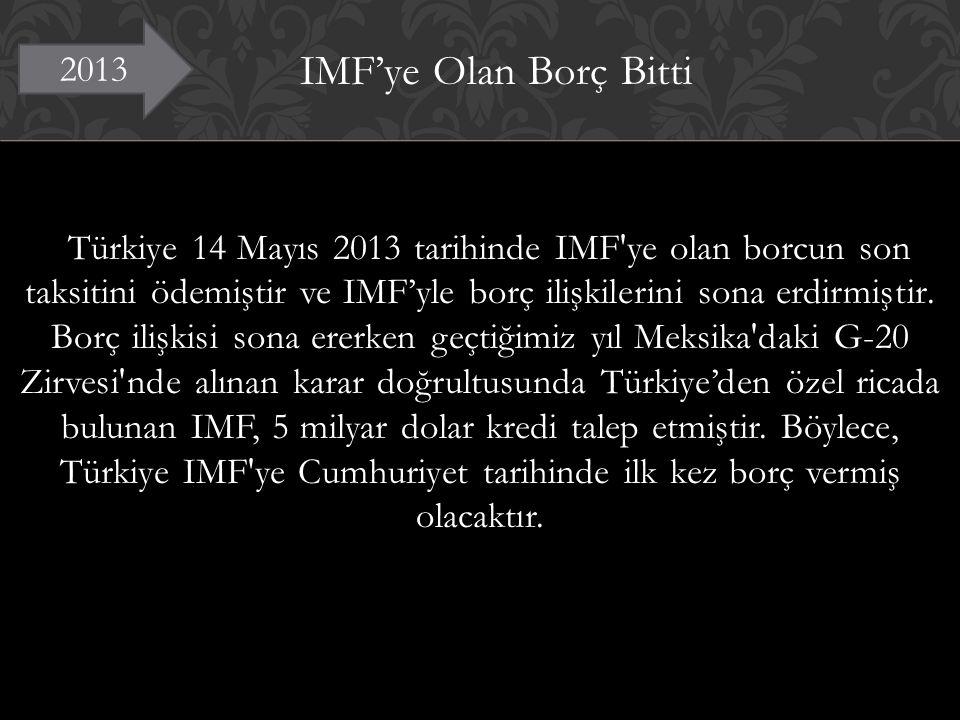 IMF'ye Olan Borç Bitti