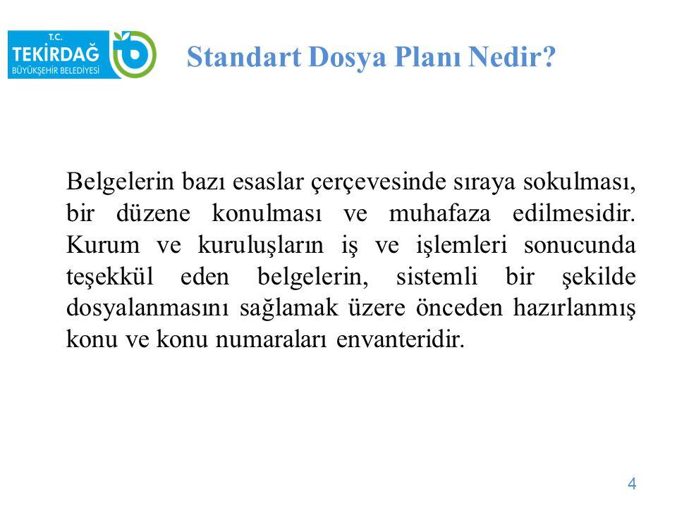 Standart Dosya Planı Nedir