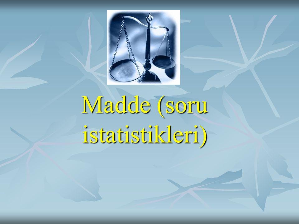 Madde (soru istatistikleri)
