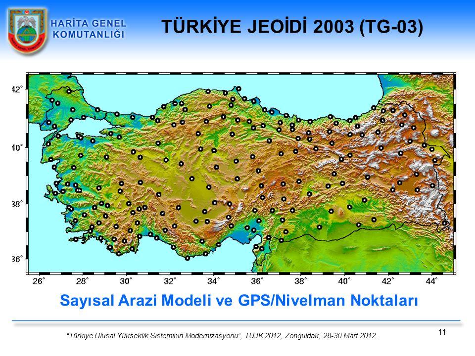 Sayısal Arazi Modeli ve GPS/Nivelman Noktaları