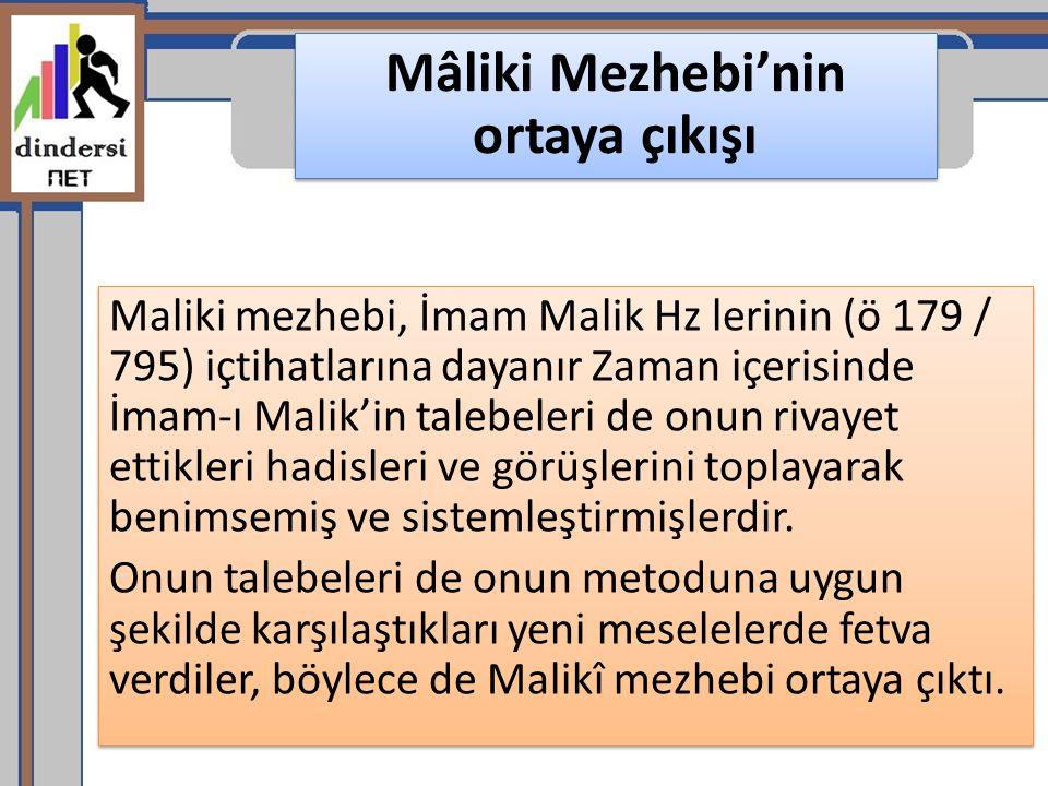 Mâliki Mezhebi'nin ortaya çıkışı