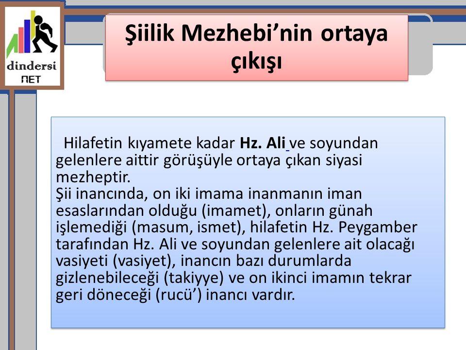 Şiilik Mezhebi'nin ortaya çıkışı
