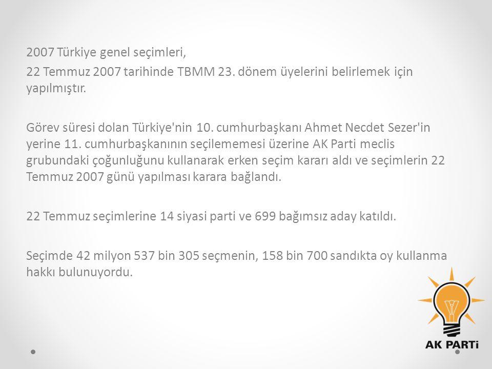 2007 Türkiye genel seçimleri,