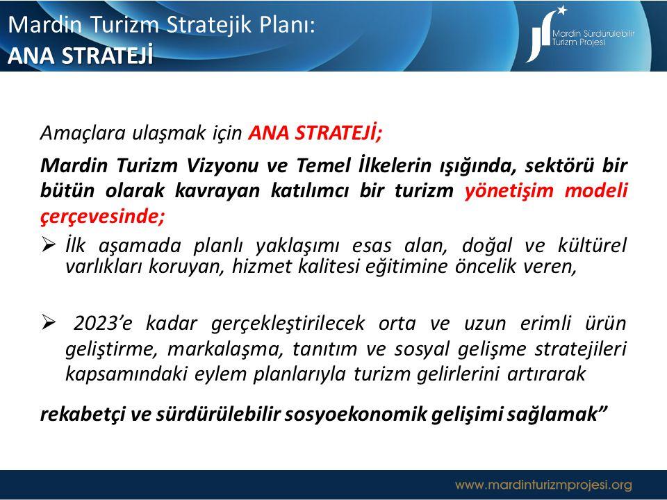 Mardin Turizm Stratejik Planı: ANA STRATEJİ