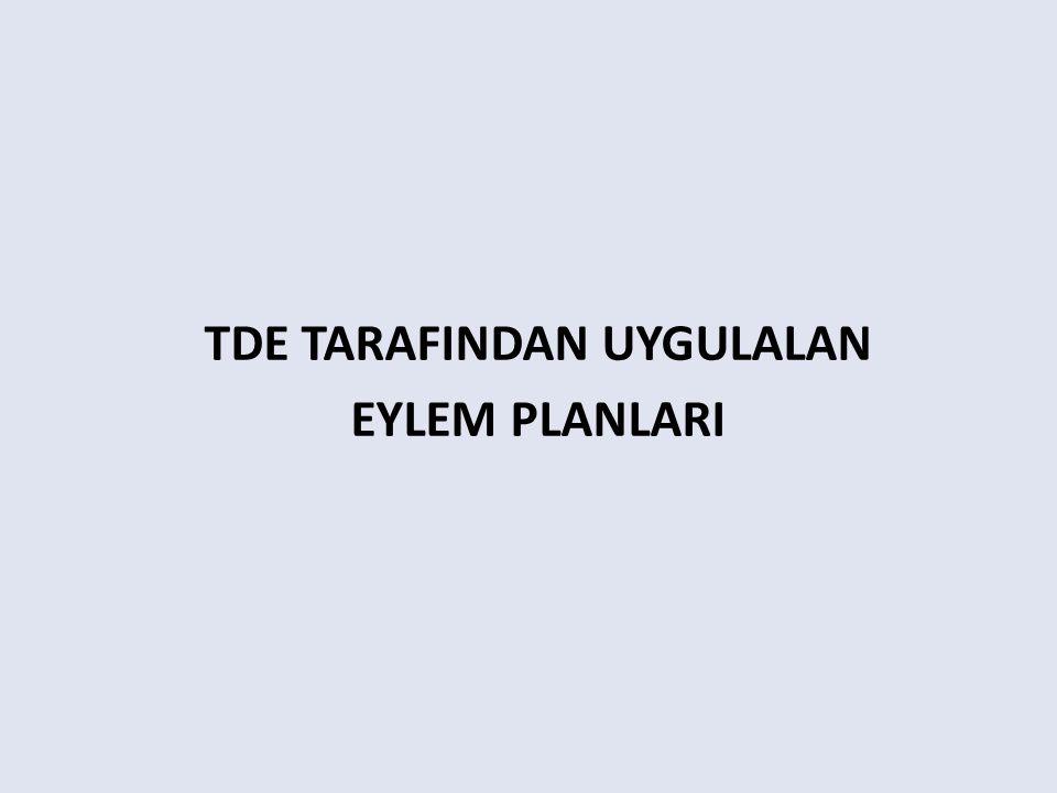 TDE TARAFINDAN UYGULALAN EYLEM PLANLARI