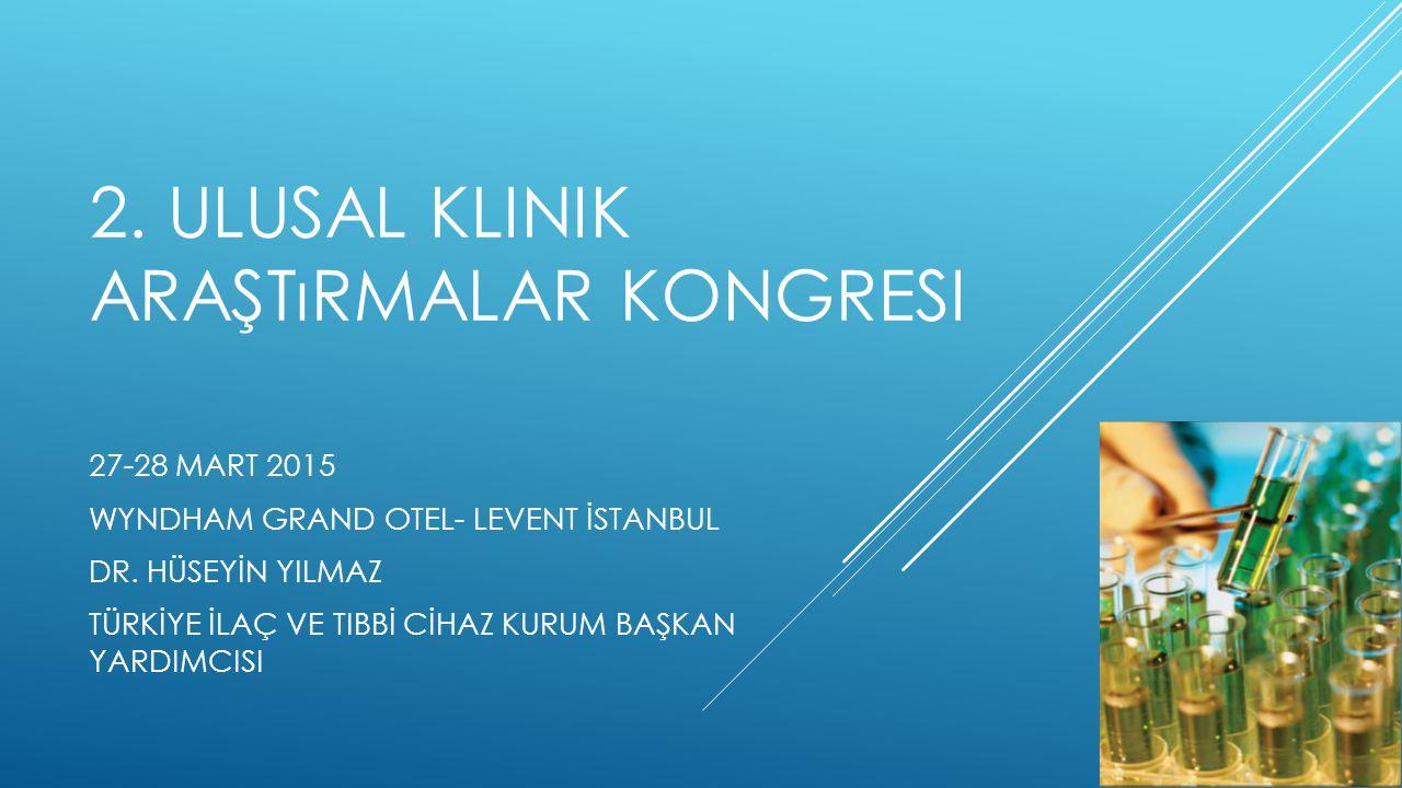 2. Ulusal klinik araştırmalar kongresi