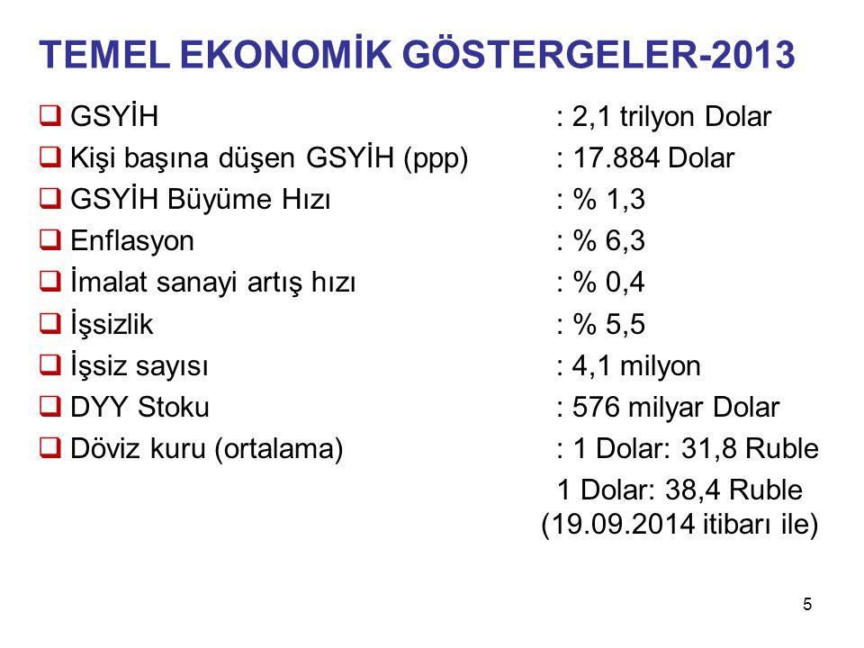 TEMEL EKONOMİK GÖSTERGELER-2013