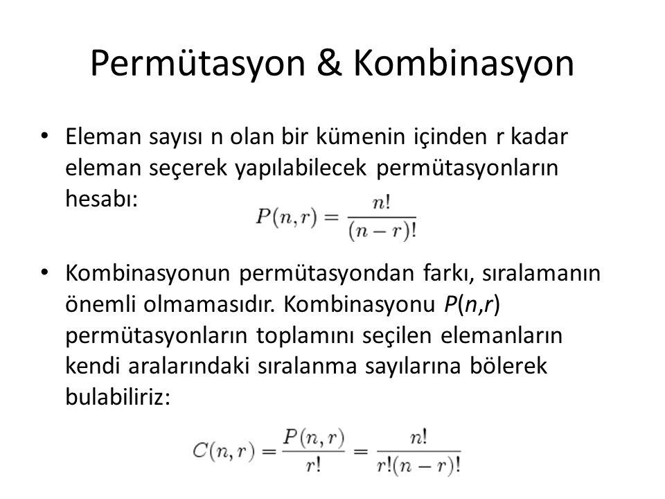 Permütasyon & Kombinasyon