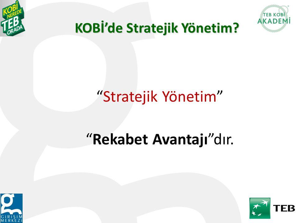 KOBİ'de Stratejik Yönetim