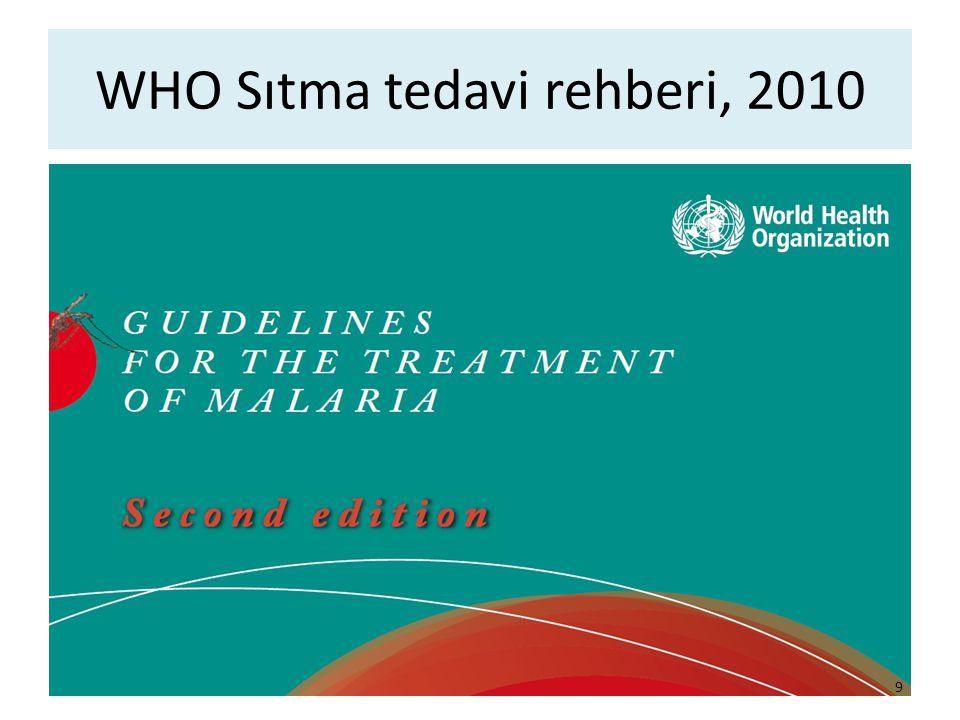 WHO Sıtma tedavi rehberi, 2010