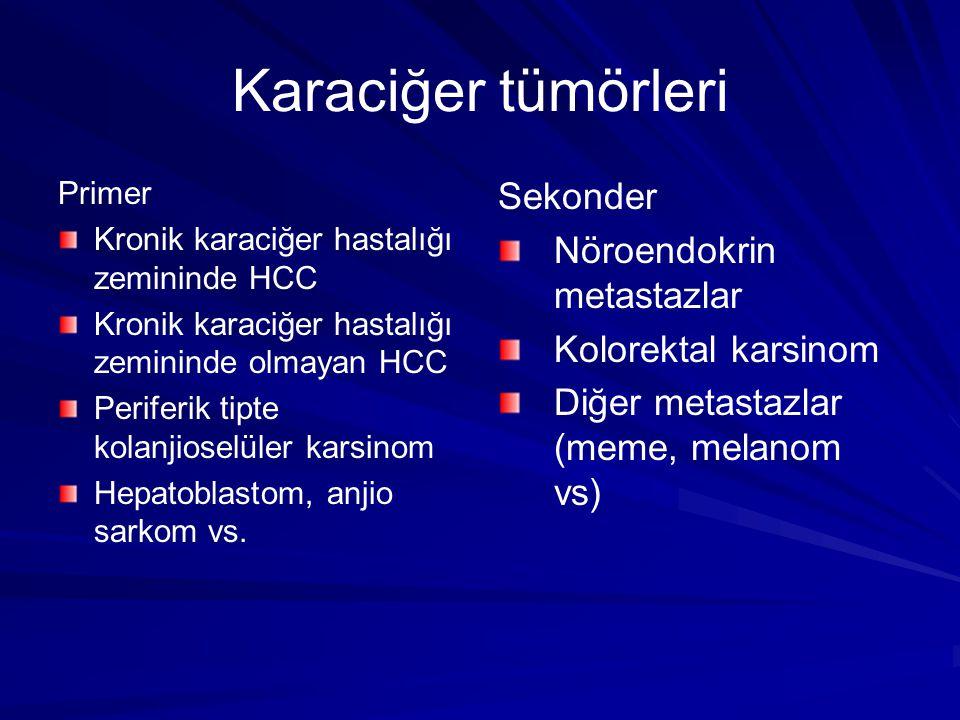 Karaciğer tümörleri Sekonder Nöroendokrin metastazlar