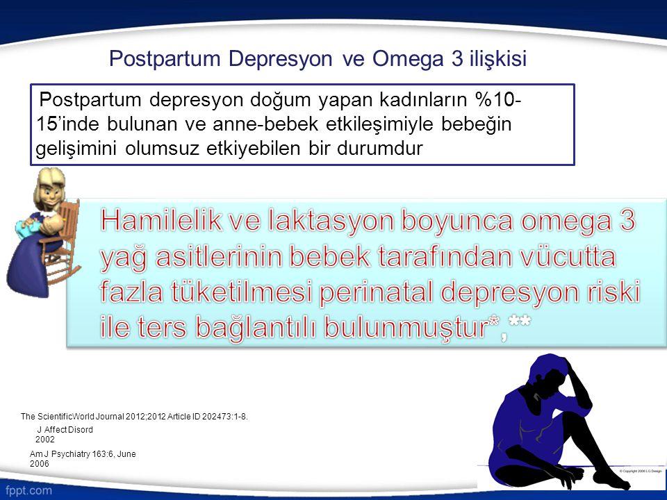 Postpartum Depresyon ve Omega 3 ilişkisi