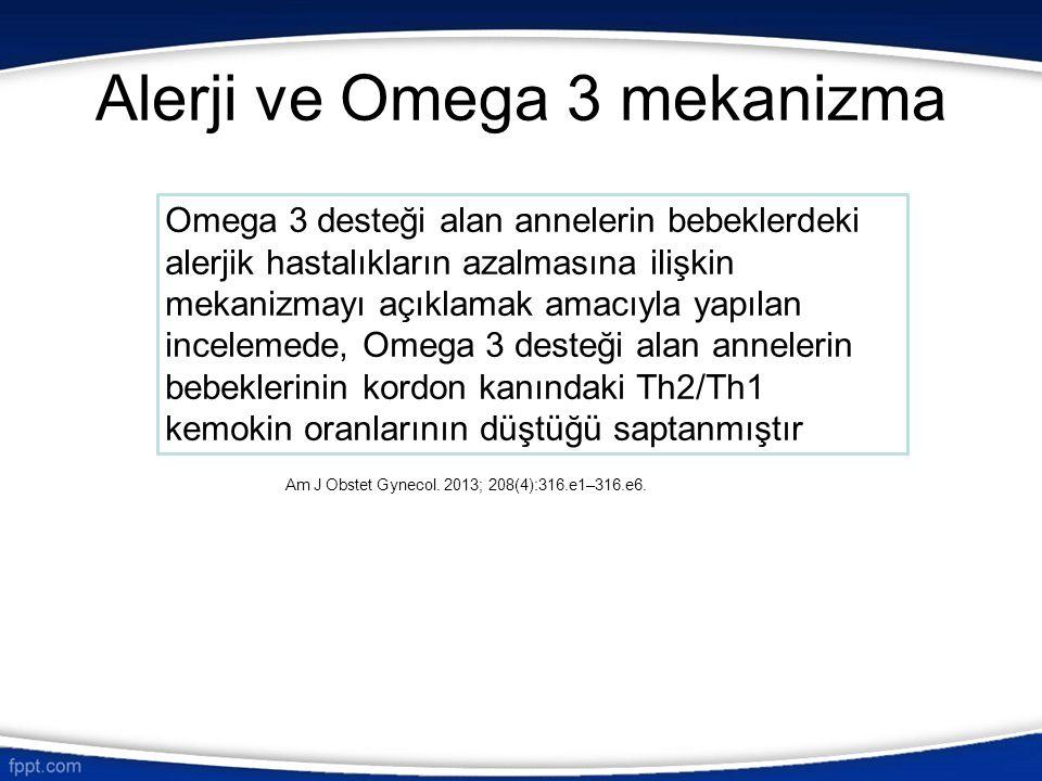 Alerji ve Omega 3 mekanizma