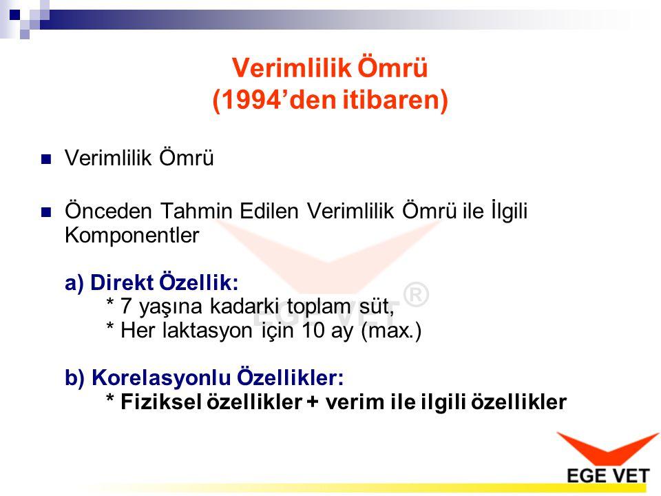 Verimlilik Ömrü (1994'den itibaren)