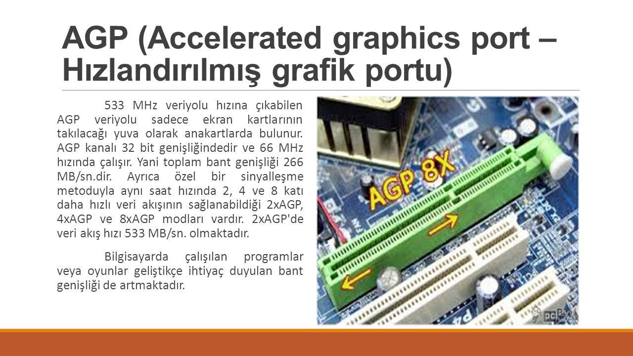 AGP (Accelerated graphics port – Hızlandırılmış grafik portu)