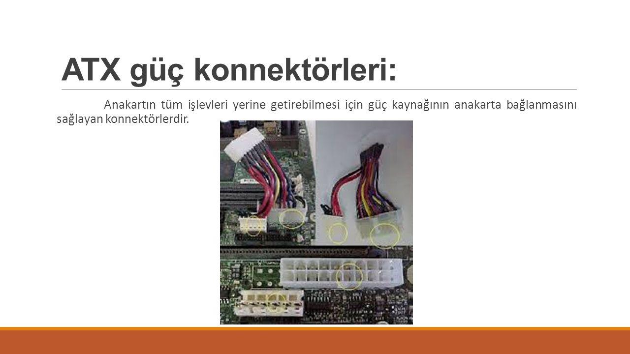 ATX güç konnektörleri: