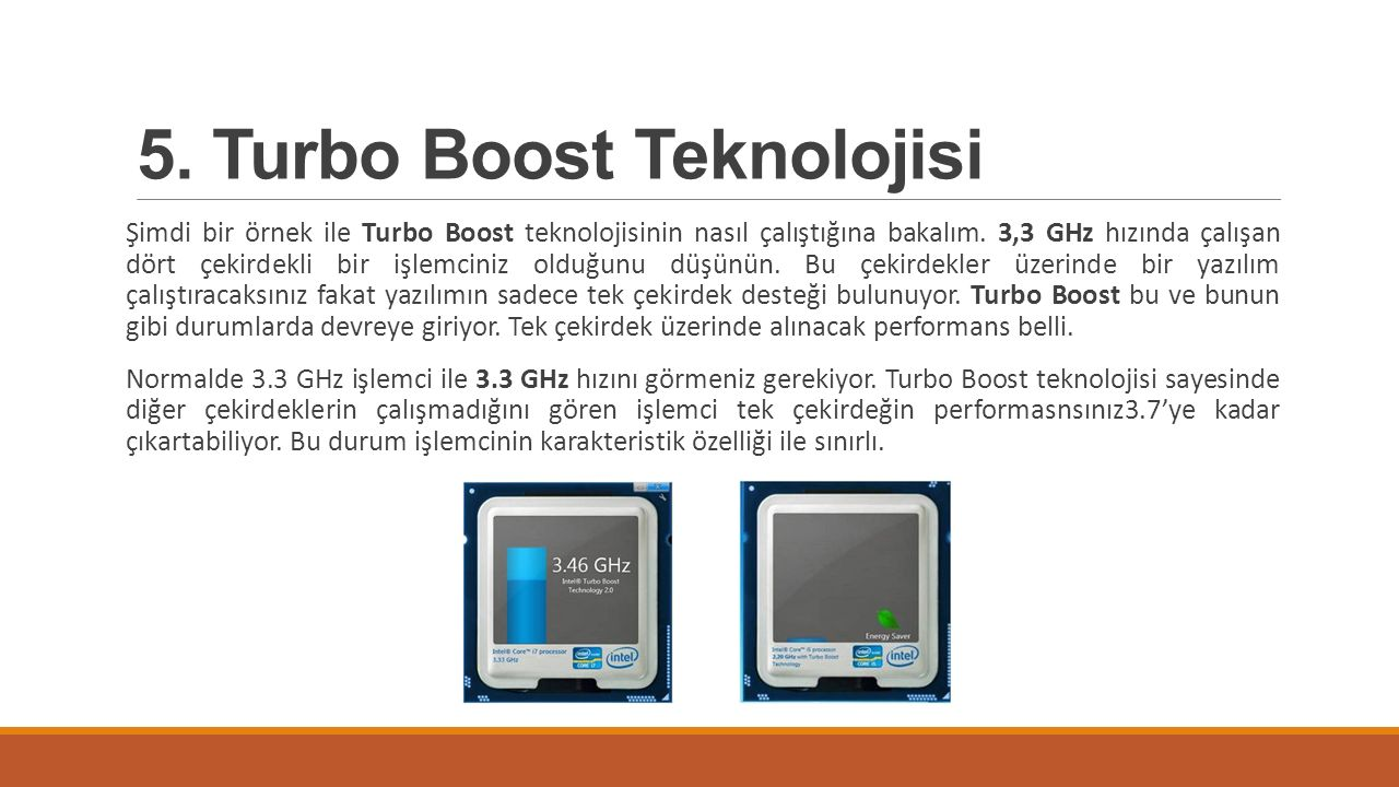 5. Turbo Boost Teknolojisi