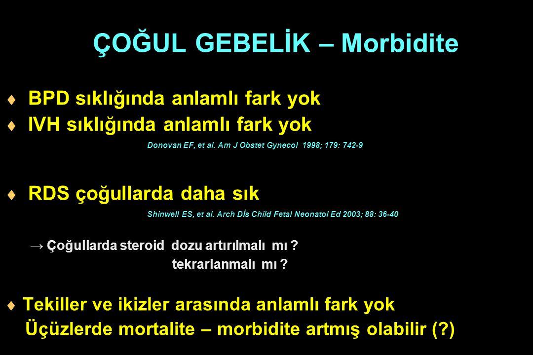 ÇOĞUL GEBELİK – Morbidite