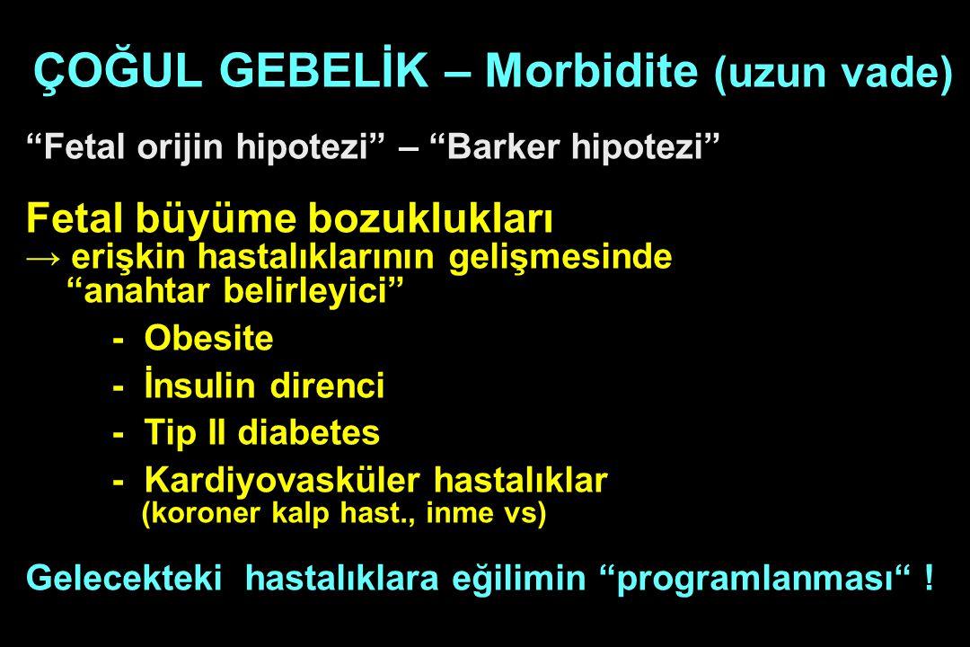 ÇOĞUL GEBELİK – Morbidite (uzun vade)