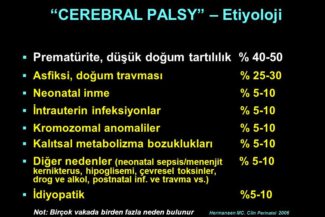 CEREBRAL PALSY – Etiyoloji