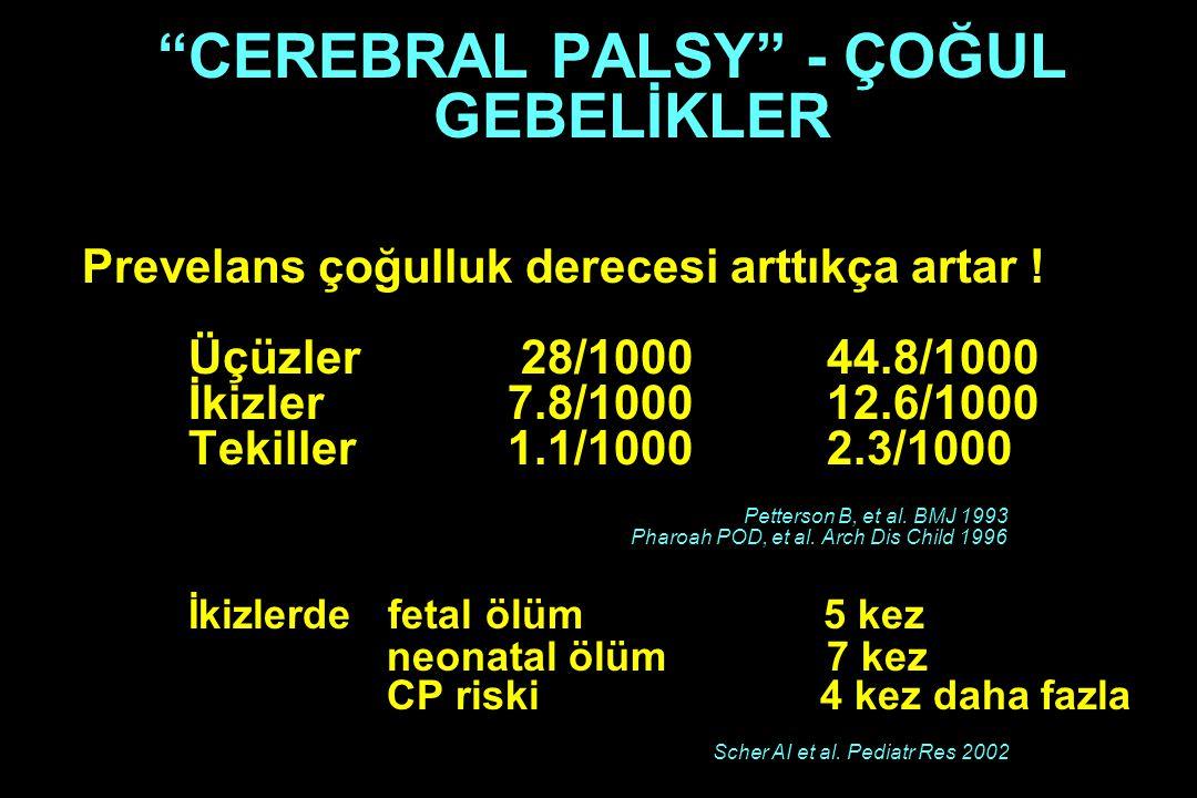 CEREBRAL PALSY - ÇOĞUL GEBELİKLER