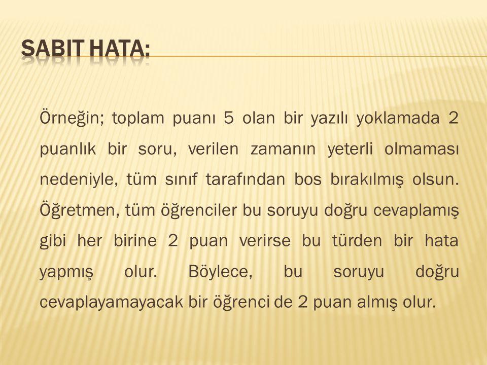 Sabit hata: