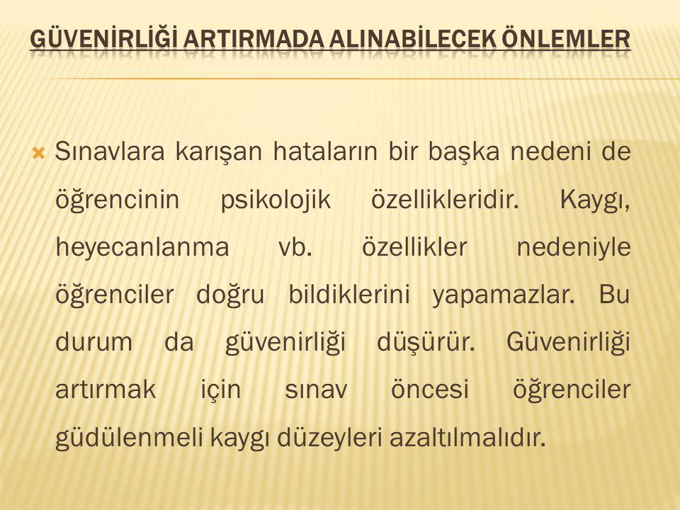GÜVENİRLİĞİ ARTIRMADA ALINABİLECEK ÖNLEMLER