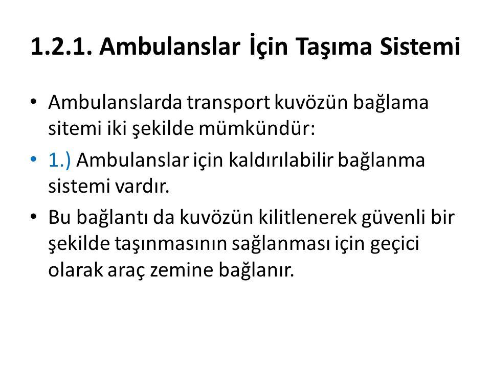 1.2.1. Ambulanslar İçin Taşıma Sistemi