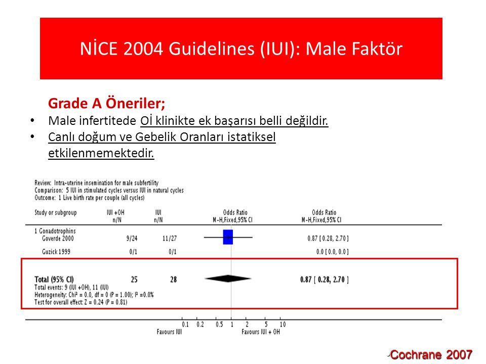 NİCE 2004 Guidelines (IUI): Male Faktör