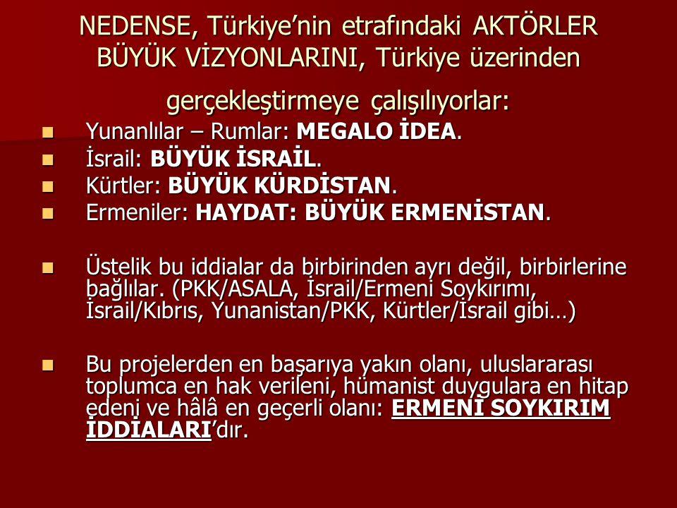 NEDENSE, Türkiye'nin etrafındaki AKTÖRLER BÜYÜK VİZYONLARINI, Türkiye üzerinden gerçekleştirmeye çalışılıyorlar: