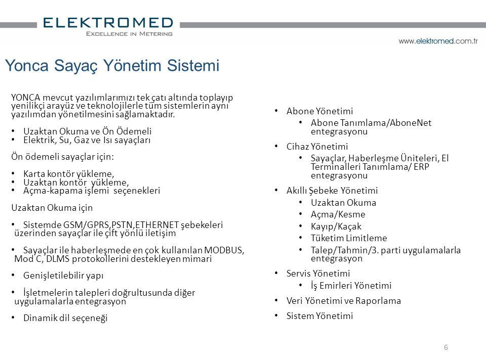 Yonca Sayaç Yönetim Sistemi