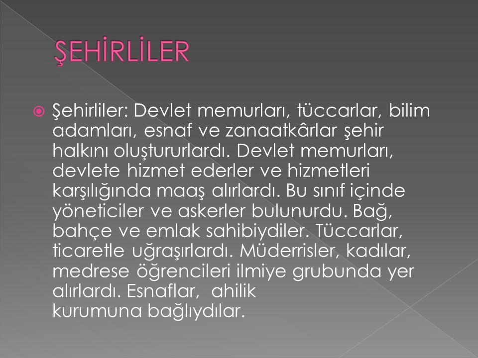 ŞEHİRLİLER