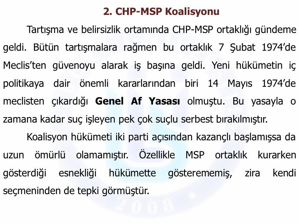 2. CHP-MSP Koalisyonu