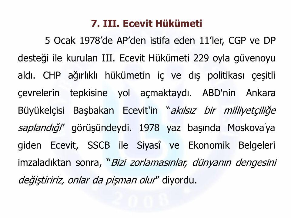 7. III. Ecevit Hükümeti