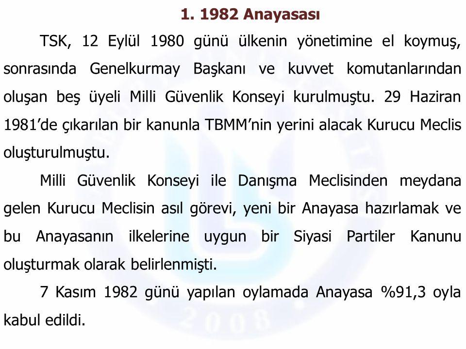 1. 1982 Anayasası