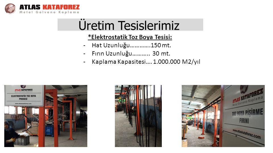 Üretim Tesislerimiz *Elektrostatik Toz Boya Tesisi: