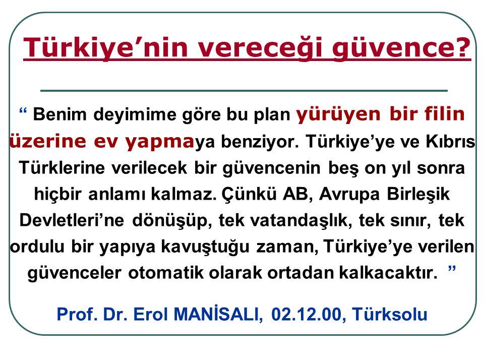 Türkiye'nin vereceği güvence
