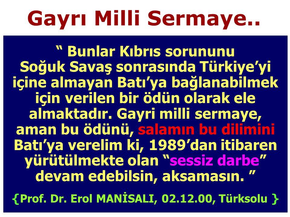 {Prof. Dr. Erol MANİSALI, 02.12.00, Türksolu }