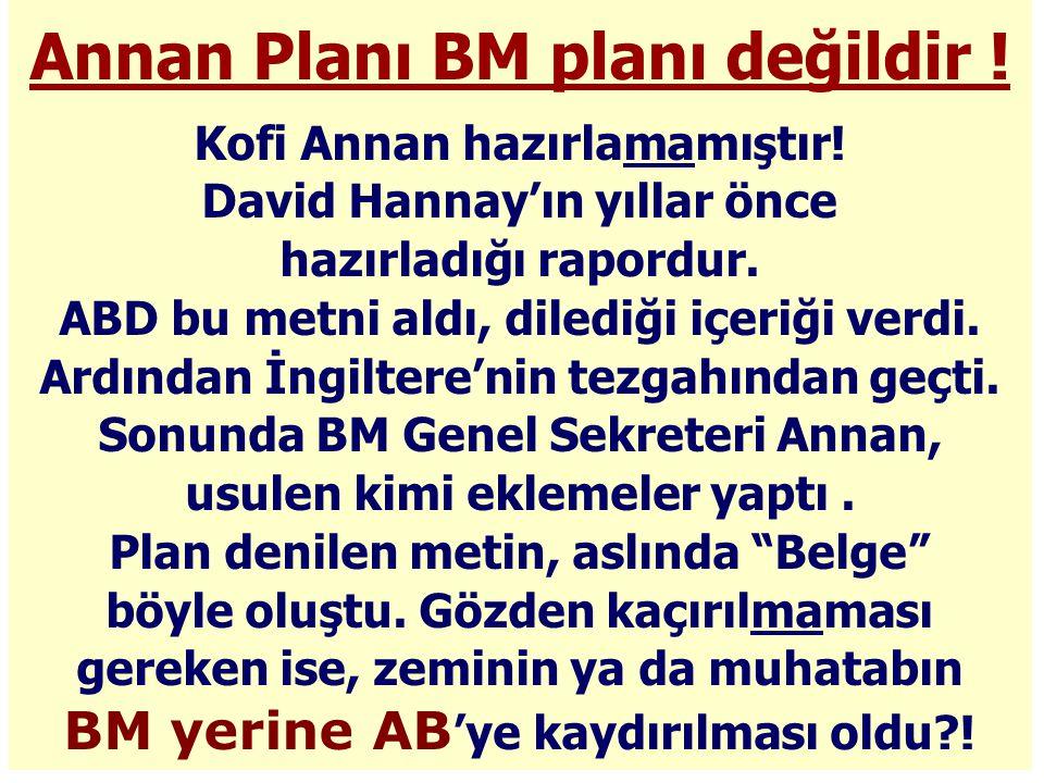 Annan Planı BM planı değildir !