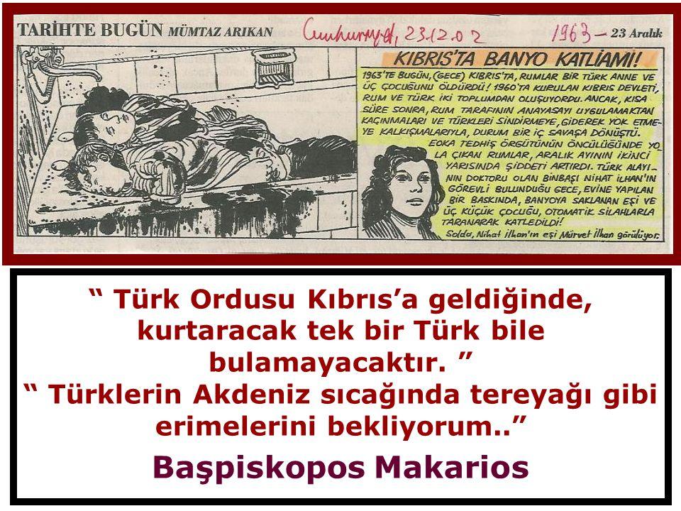 Türklerin Akdeniz sıcağında tereyağı gibi erimelerini bekliyorum..