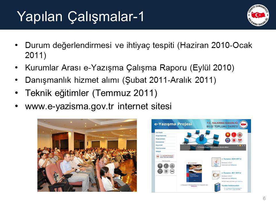 Yapılan Çalışmalar-1 Teknik eğitimler (Temmuz 2011)