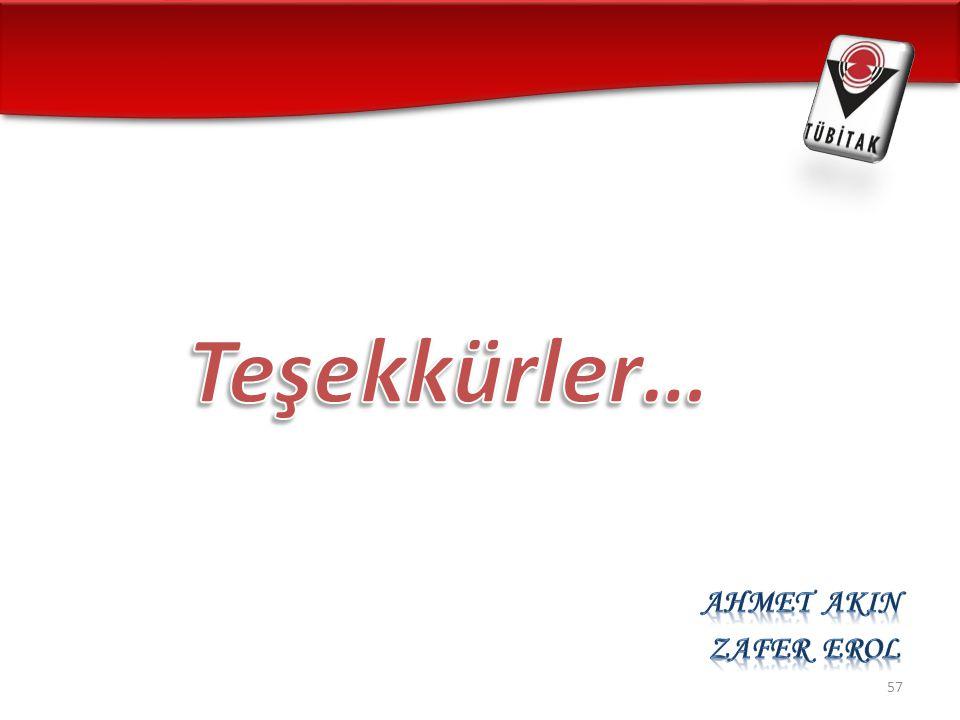 Teşekkürler… Ahmet AKIN Zafer EROL